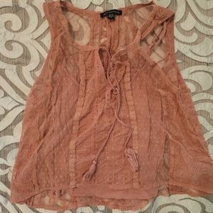 American Eagle Floral Lace Shirt